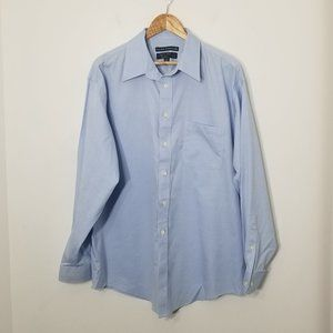 Joseph & Feiss   Blue Long Sleeve Button Down 17.5